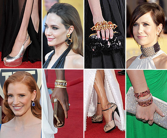 2012 SAG Awards: The Best Bags, Shoes and Jewellery!