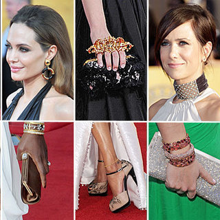 The Full Rundown On All The 2012 SAG Awards Accessories - From Earrings to Clutches to Headbands & More!