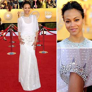 Zoe Saldana Wears Givenchy Metallic Gown on the Red Carpet at the 2012 SAG Awards: Do you Like?