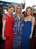 Michelle Williams, Busy Philipps, and Jessica Chastain make a beautiful trio.