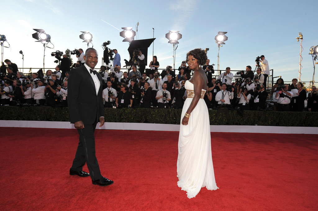 Viola Davis and her man heat up the red carpet.