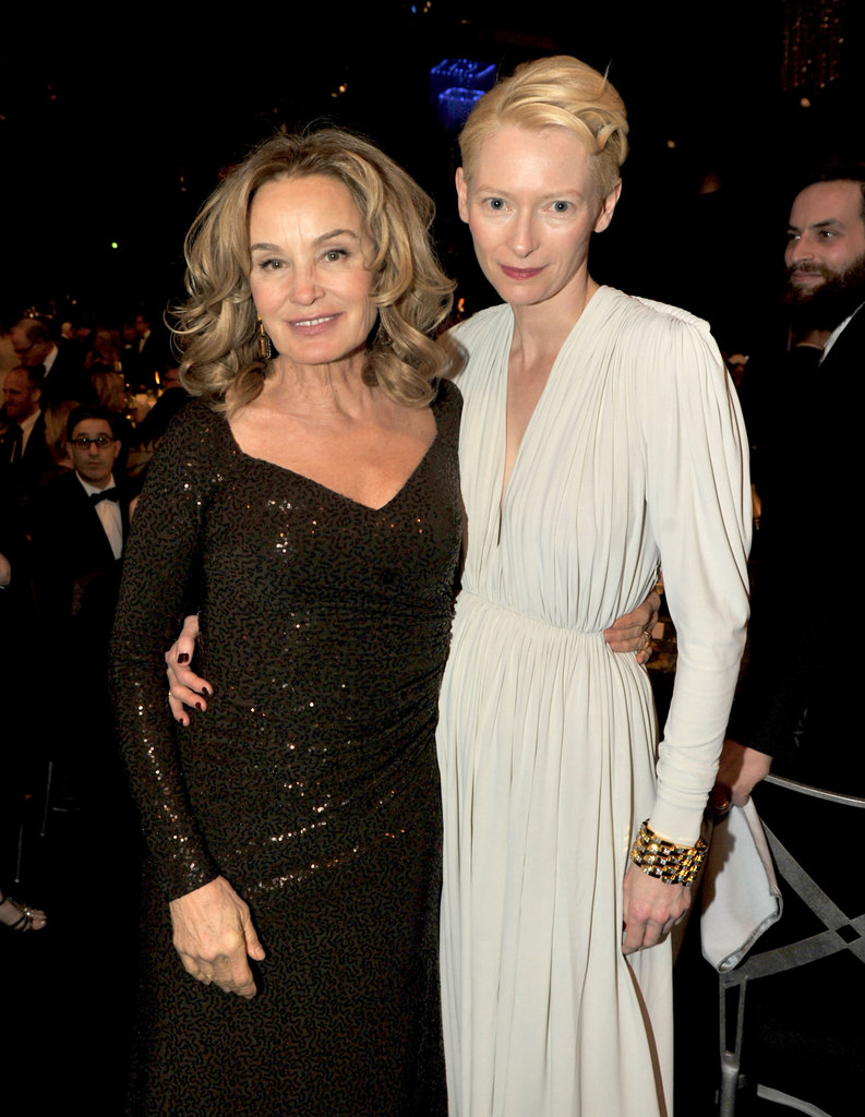 Jessica Lange and Tilda Swinton enjoy the show.