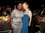The Help's Jessica Chastain and Octavia Spencer post for a cute pic.