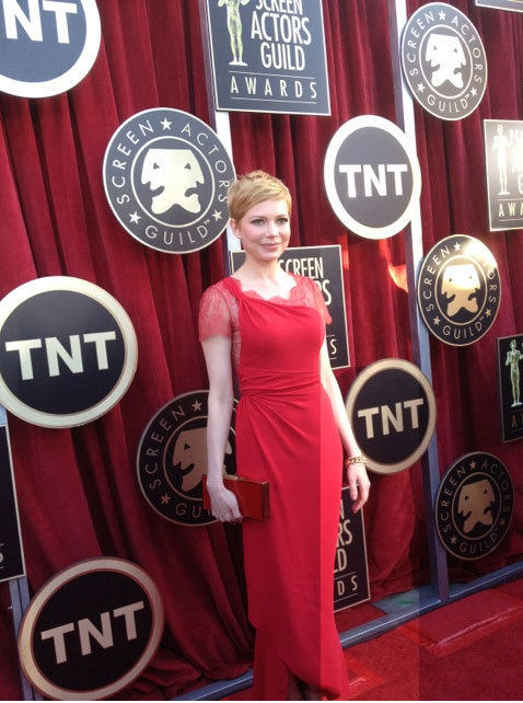 Michelle Williams in Valentino. Twitter User: SAGawards