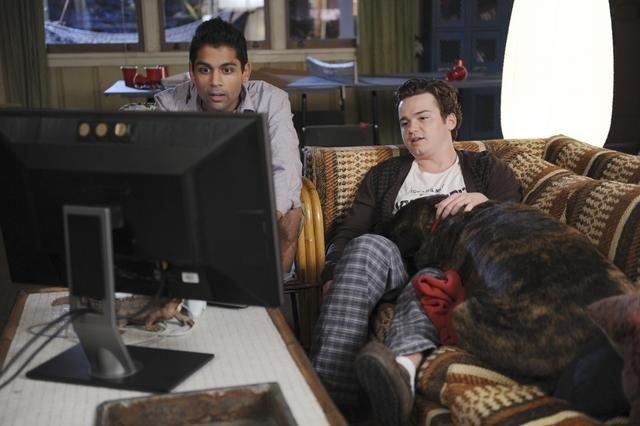 Shawn Parikh and Dan Byrd in Cougar Town. Photos copyright 2012 ABC, Inc.