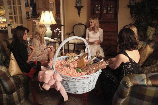 Marisol Nichols, Jennifer Aspen, Leslie Bibb, and Miriam Shor in GCB. Photos copyright 2012 ABC, Inc.
