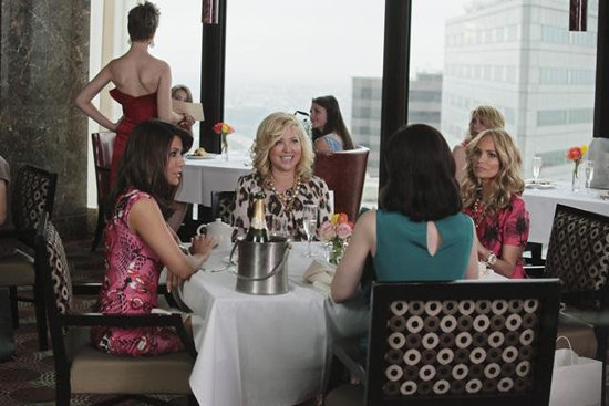 Marisol Nichols, Jennifer Aspen, Kristin Chenoweth, and Miriam Shor in GCB. Photos copyright 2012 ABC, Inc.