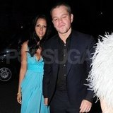 Matt Damon and Luciana Damon were together in London.