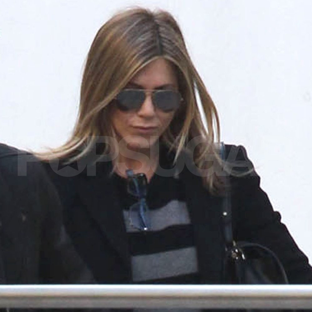Jennifer Aniston was decked out in Winter gear.