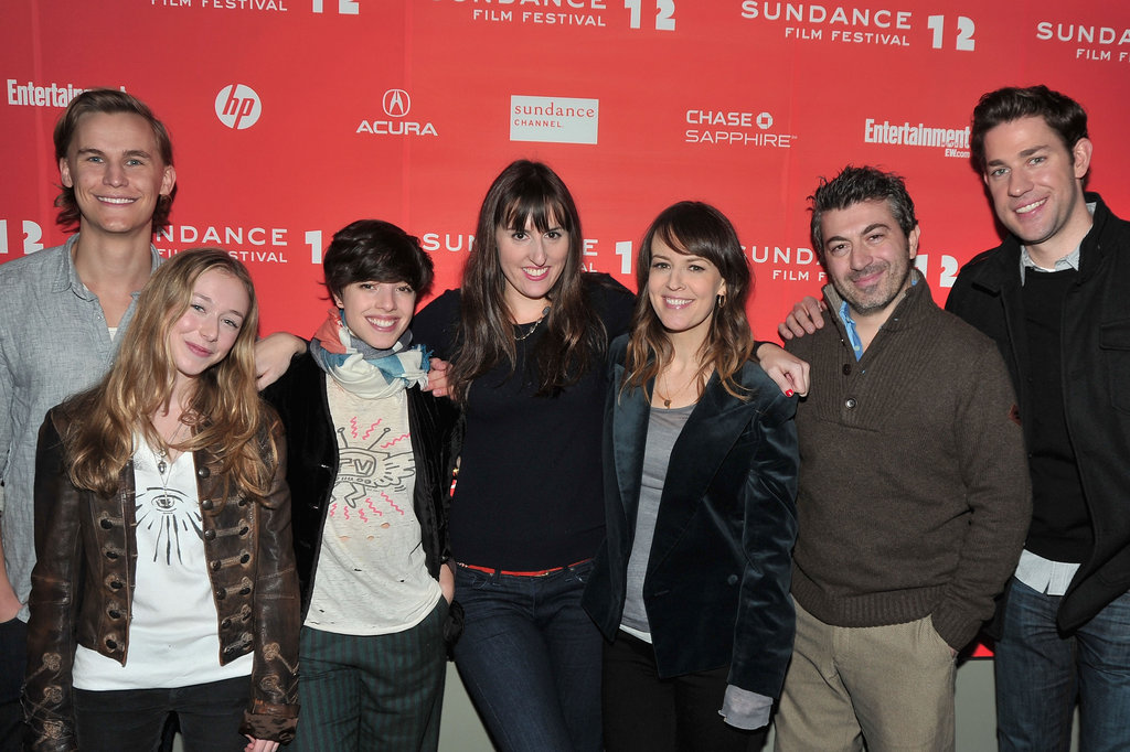 Rhys Wakefield, India Ennenga, Olivia Thirlby, Ry Russo-Young, Rosemarie DeWitt, Emanuele Secci and John Krasinski at the 2012 Sundance Film Festival premiere of Nobody Walks.
