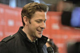 John Krasinski smiled while on the red carpet in Park City, Utah.