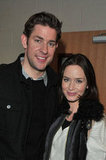 John Krasinski had Emily Blunt's support at the Sundance premiere of Nobody Walks.