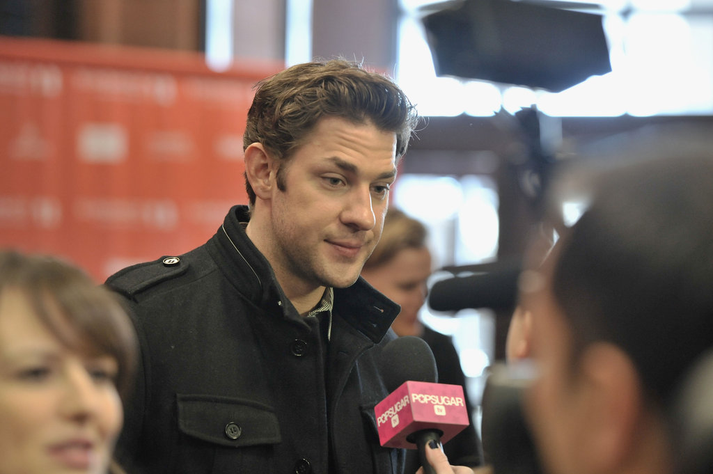 John Krasinski chatted with PopSugar on the red carpet.