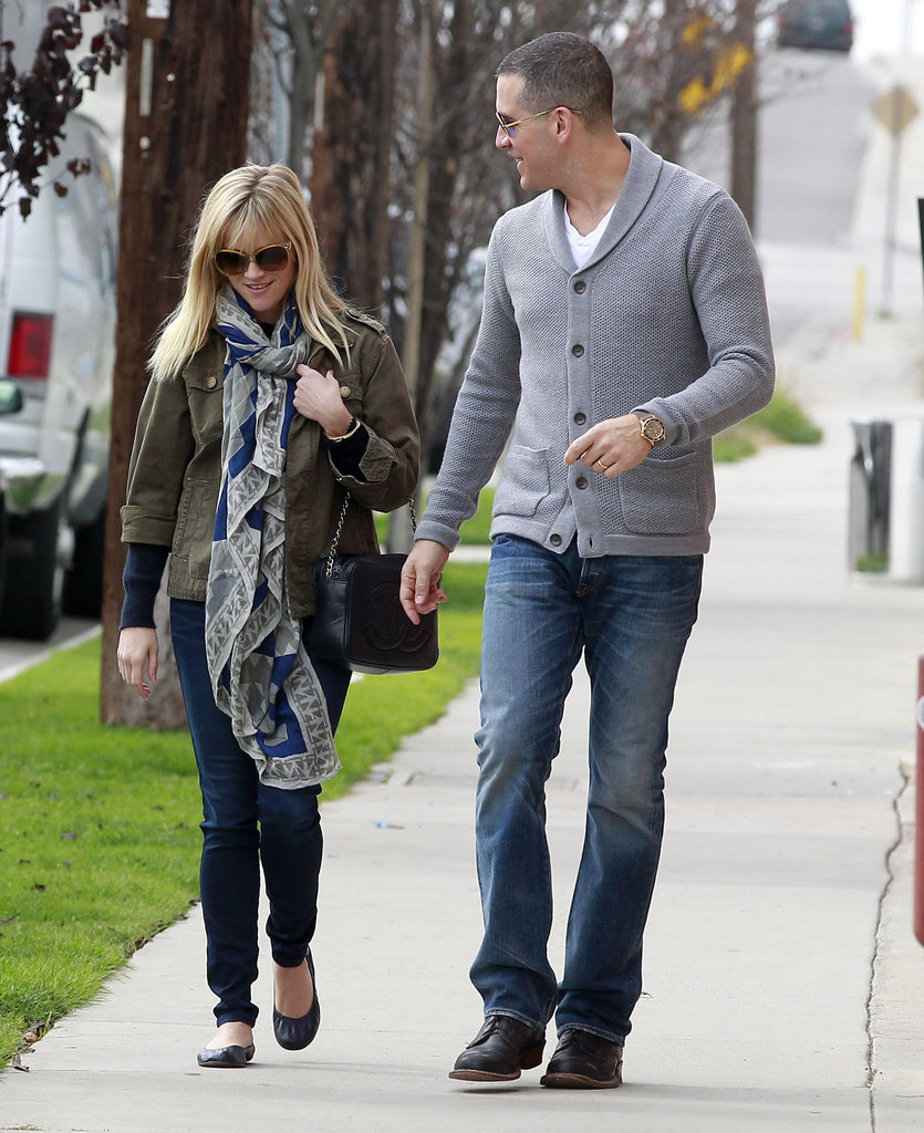 Reese Witherspoon and Jim Toth couldn't stop smiling.
