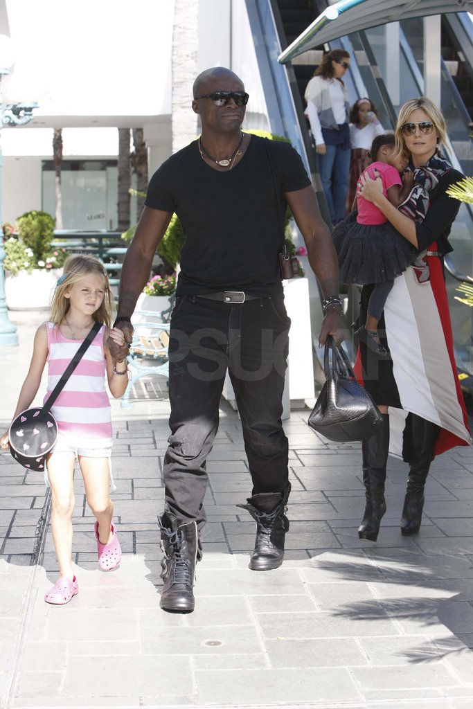 The couple were out with their daughters, Leni and Lou, in LA last October.