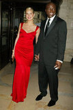 Heidi and Seal hold hands at the 2004 CFDA Fashion Awards.