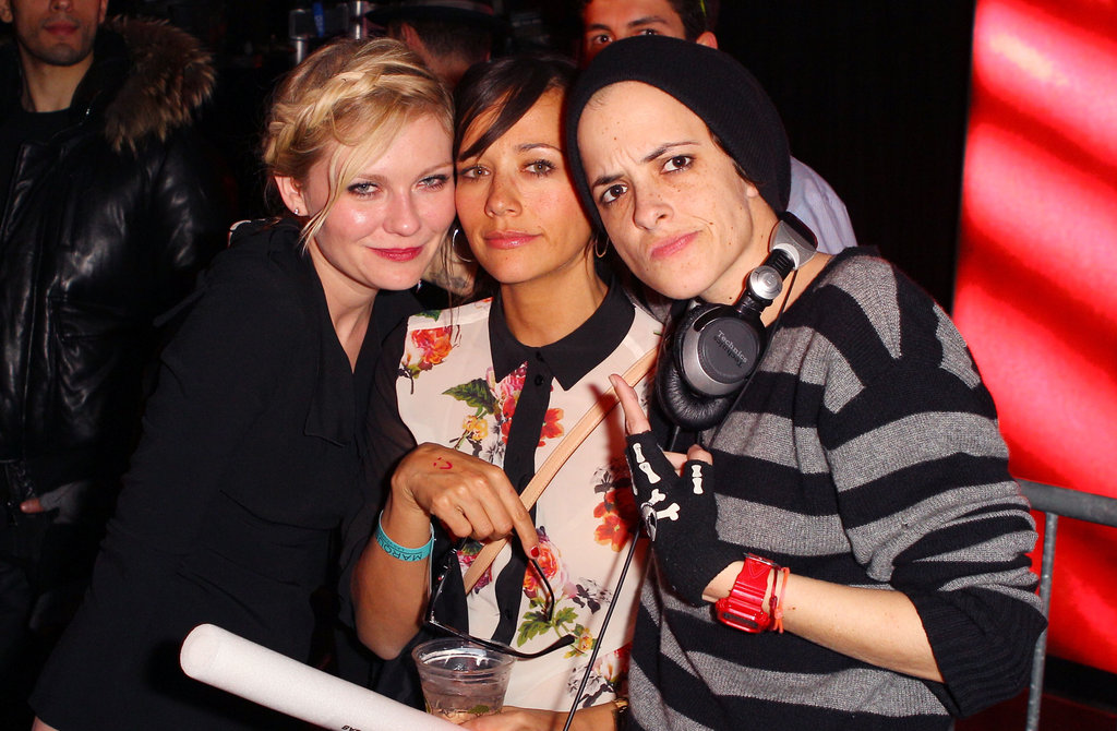 Kirsten Dunst, Rashida Jones, and Samantha Ronson hung out at the Bachelorette afterparty.