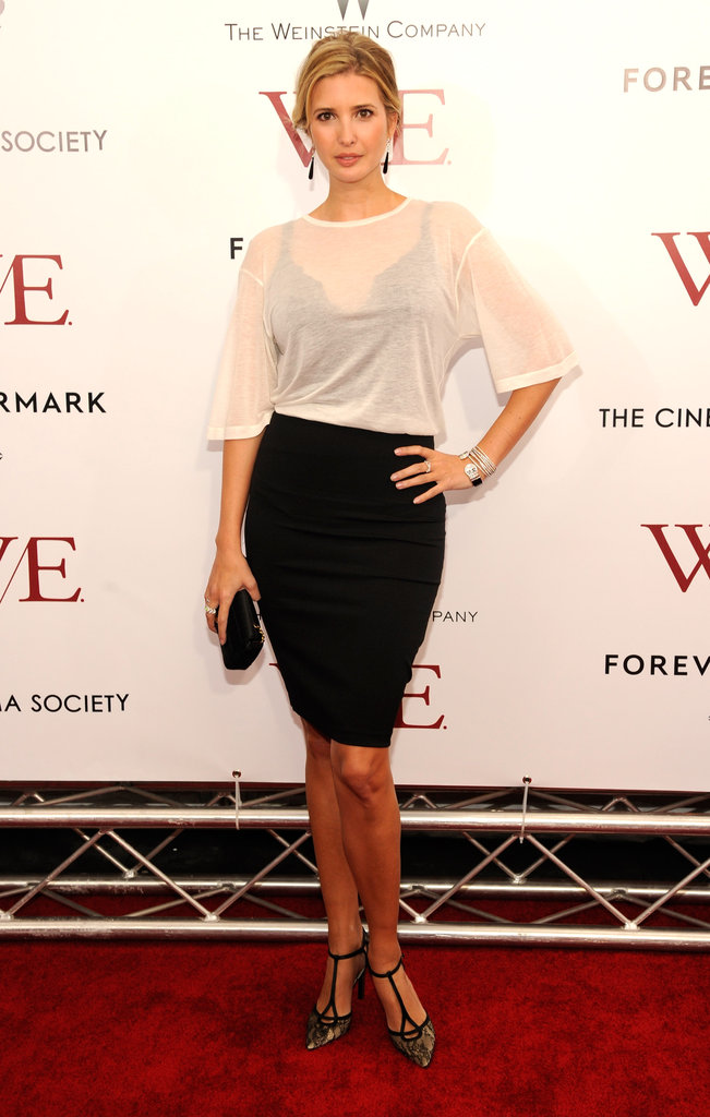 Ivanka Trump walked the red carpet at the premiere of W.E..