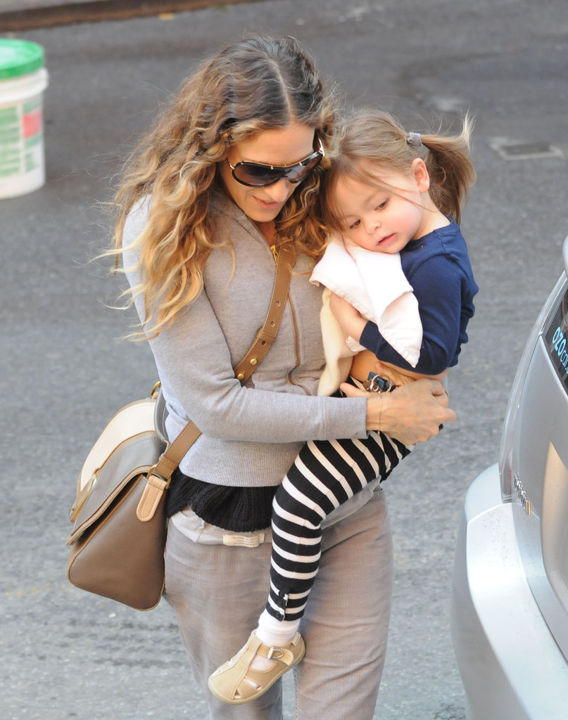 Tabitha Broderick was carried by her mom Sarah Jessica Parker.