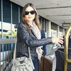 Miranda Kerr in Leather Jacket at LAX Pictures