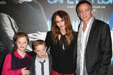 Vanessa Paradis attended the Café de Flore premiere in Paris with Alice Dubois, Marin Gerrier, and Jean-Marc Vallée.