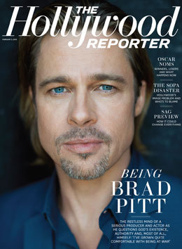 Brad Pitt Hollywood Reporter Cover 2012 Pictures