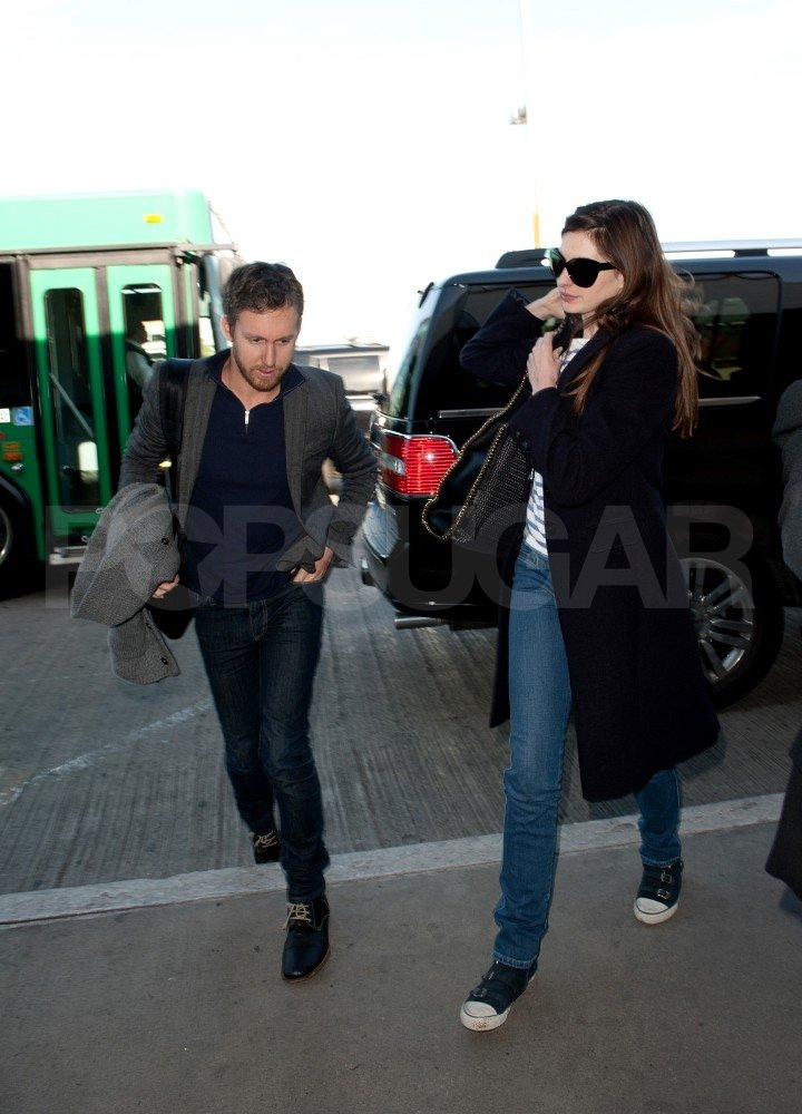 Anne Hathaway and Adam Shulman Wrap Up a Wild West Coast Trip