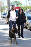 Pregnant Jennifer Garner with Ben Affleck and their dog in LA.