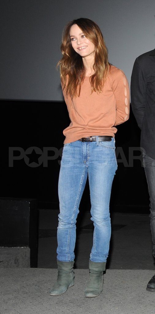 Vanessa Paradis smiled at a press event for Café de Flore.