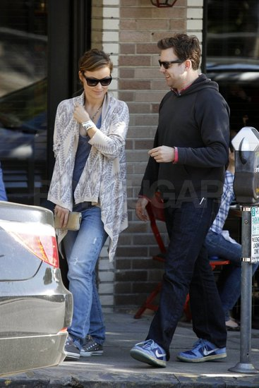 Jason and Olivia left LA's Little Dom's restaurant.