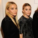 Mary-Kate and Ashley wore shades of gray and black.