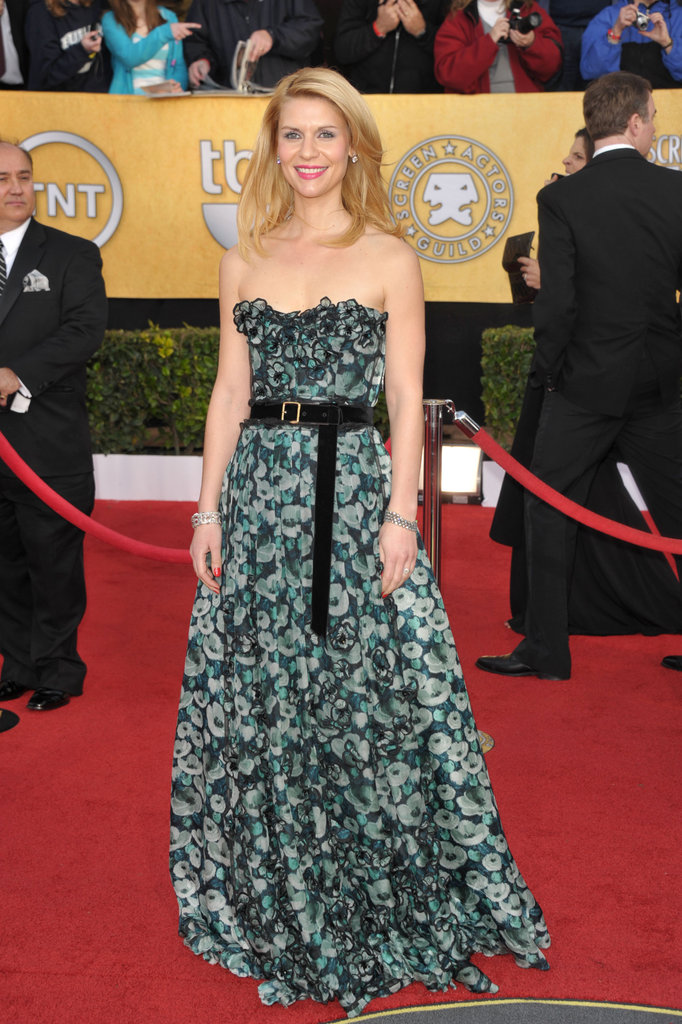 We love the pretty floral details on Claire Dane's Louis Vuitton dress in 2011.