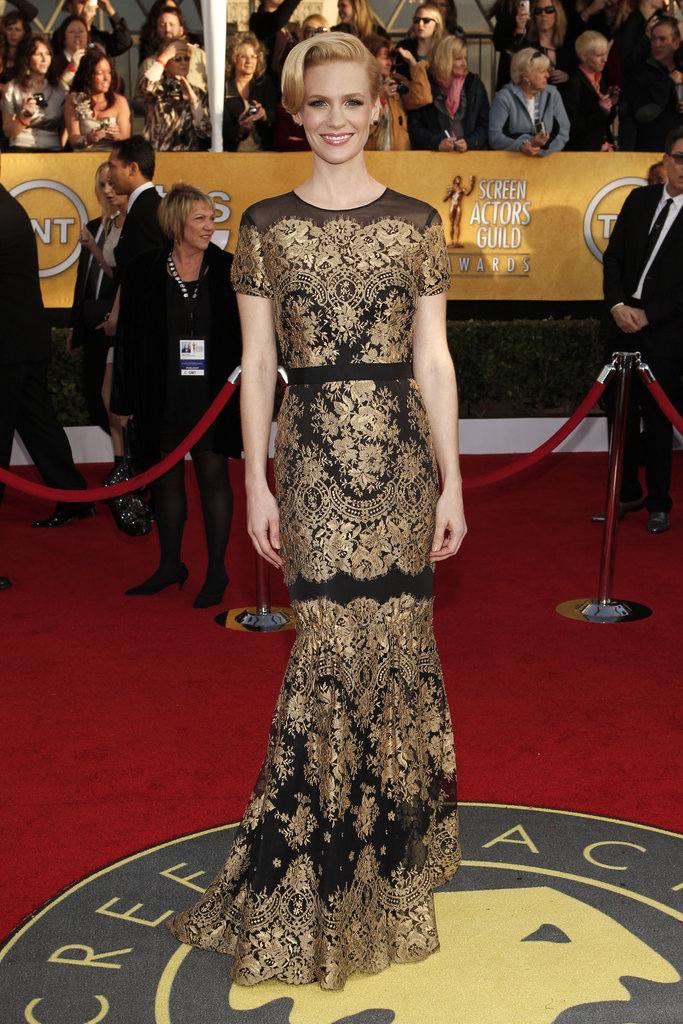 January Jones at the 2011 SAG Awards