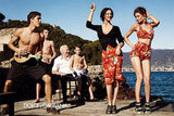 Everything about this Dolce & Gabbana Spring '12 ad makes us wish for warm weather, dance parties, and super retro clothing. Source: Fashion Gone Rogue