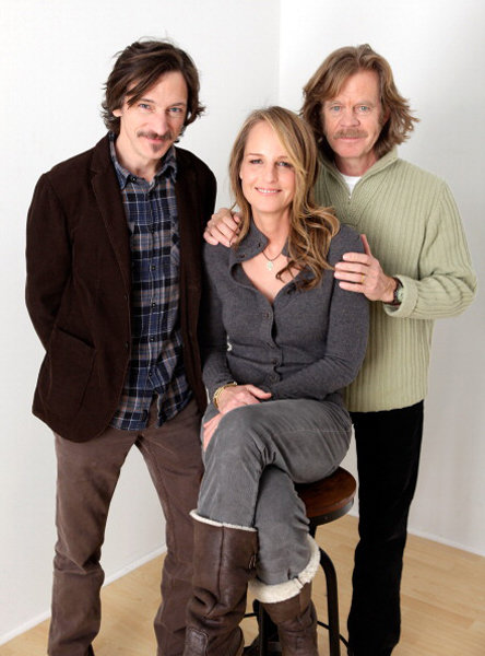 The Surrogate stars John Hawkes, Helen Hunt, and William H. Macy took this great photo at the portrait studio.