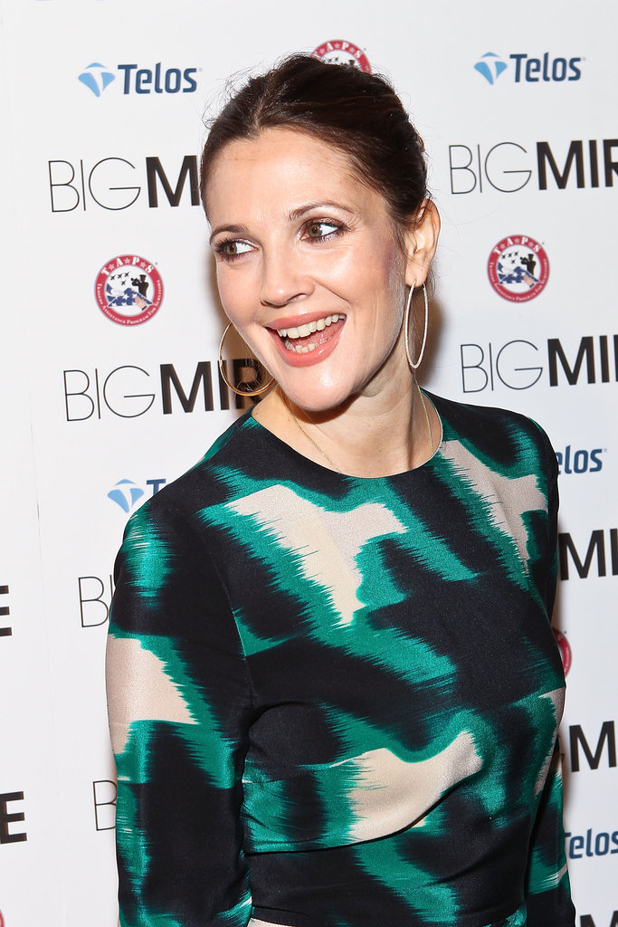 Drew Barrymore attended a DC premiere of Big Miracle.
