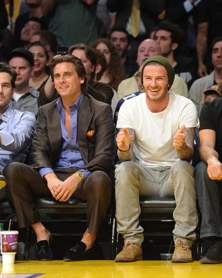 David Beckham made a new friend in Scott Disick.