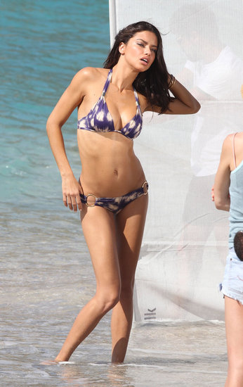 Adriana Lima Strikes a Bikini Pose For Victoria's Secret