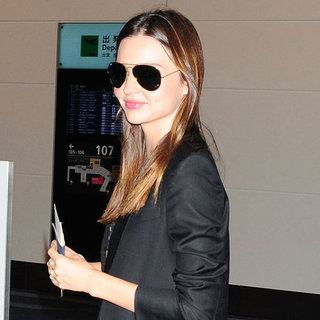 Miranda Kerr Pictures in Leather Pants