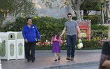 Tom Cruise and Suri Cruise explored Disneyland together.