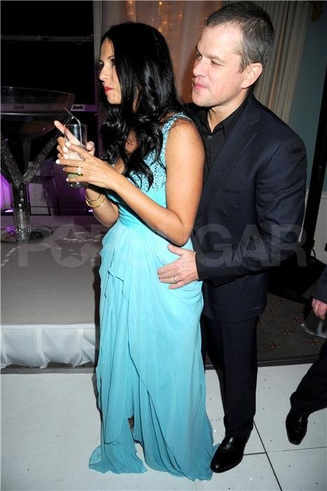 Luciana and Matt Damon in London.