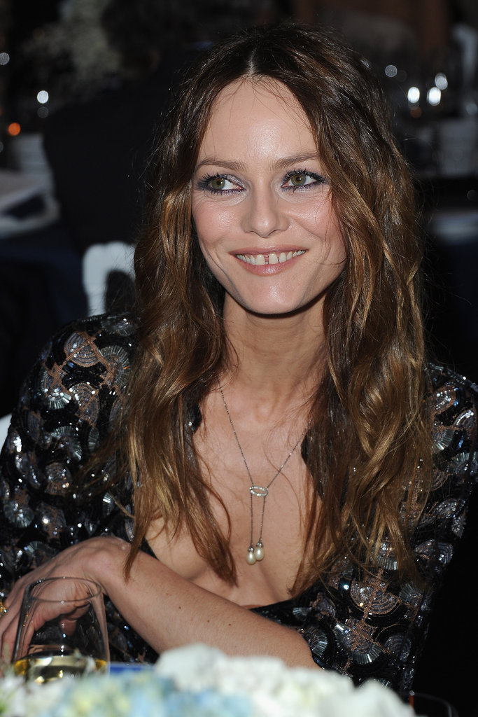 Vanessa Paradis took her seat at the Sidaction Gala.