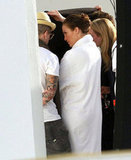 Jennifer Lopez Slips Into a Swimsuit and Snuggles With Casper