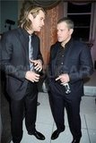 Chris Hemsworth and Matt Damon party in London.