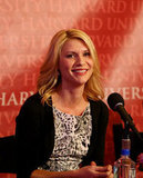 Claire Danes receiving Harvard's Hasty Pudding Woman of the Year award.