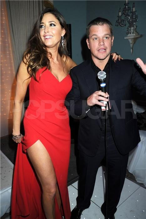 Lisa Snowdon and Matt Damon in London.