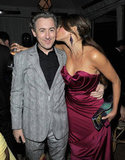 Sofia Vergara planted a kiss on Alan Cumming at the Weinstein Company's Screen Actors Guild Awards afterparty.