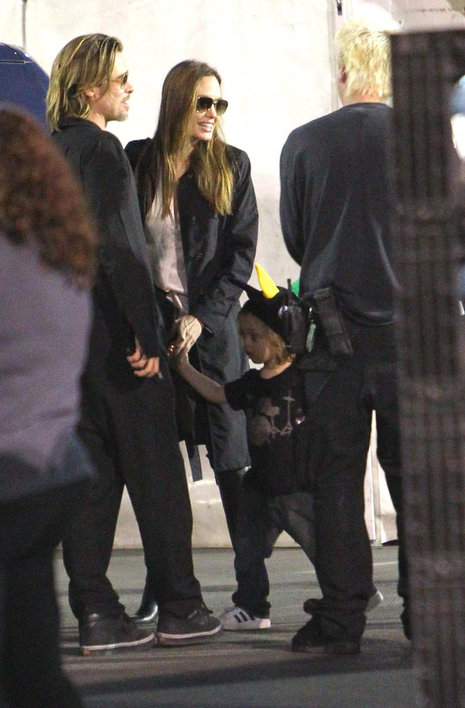 Brad Pitt and Angelina Jolie out with Knox.