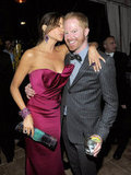 Sofia Vergara gave Jesse Tyler Ferguson a kiss on the cheek.