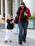 Jennifer Garner and Violet Affleck in LA.